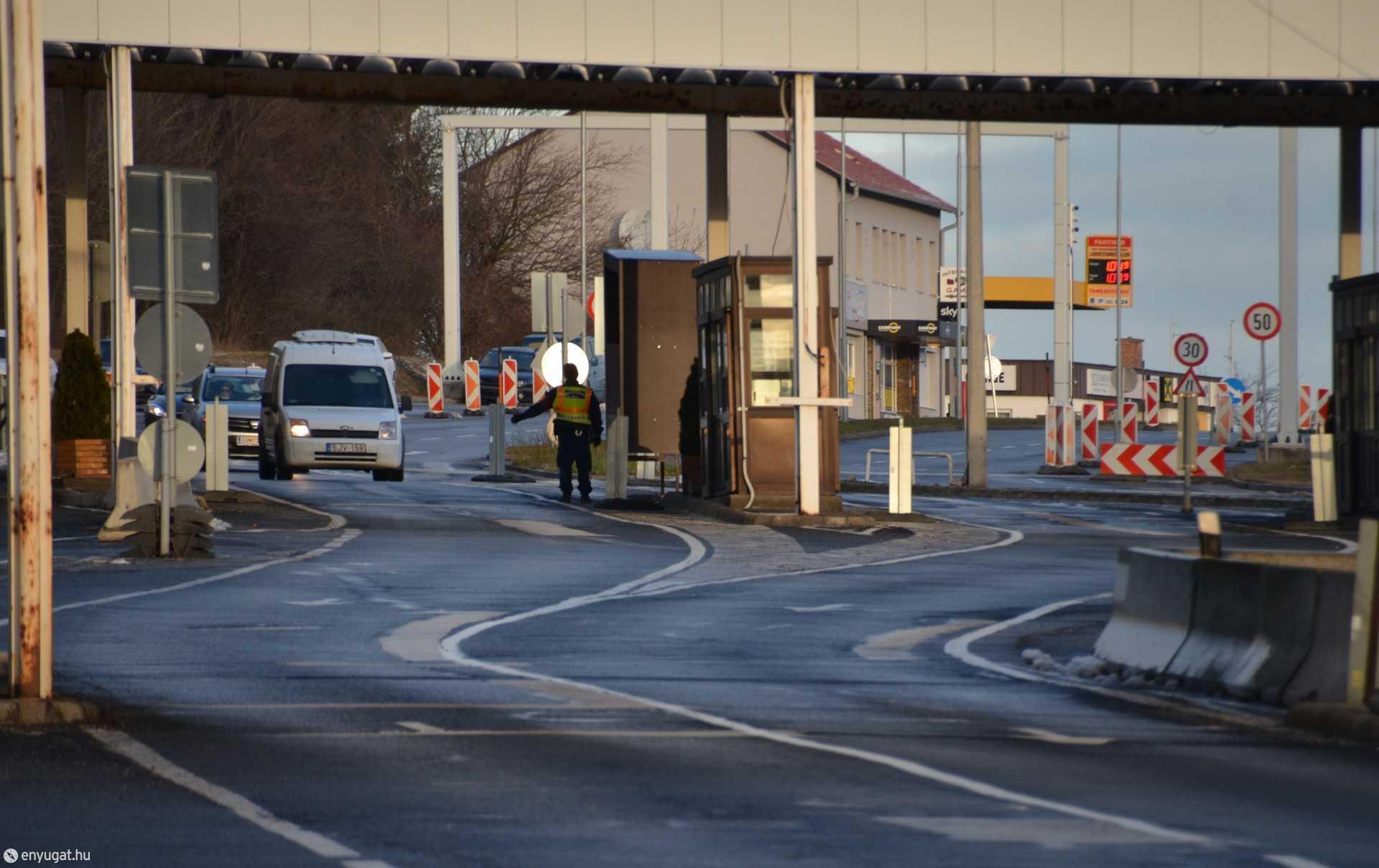 Sopron közúti határátkelőhelyen is folyamatos volt a forgalom.