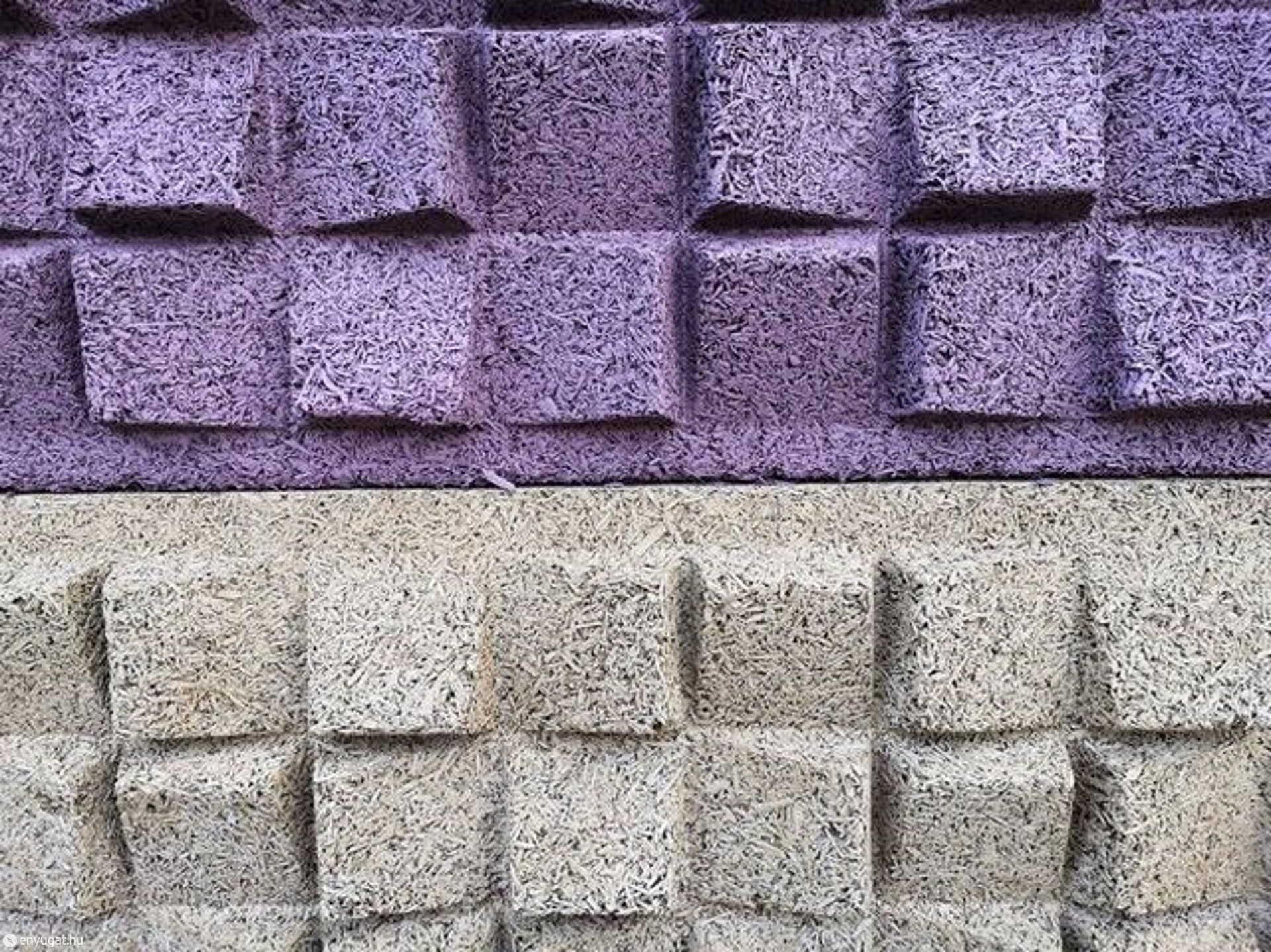 Közelről így néz ki a zajvédő fal.