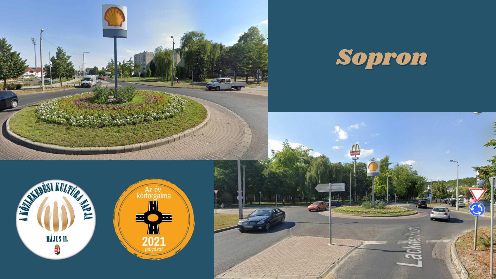 Körforgalom Sopron Lackner Kristóf utca
