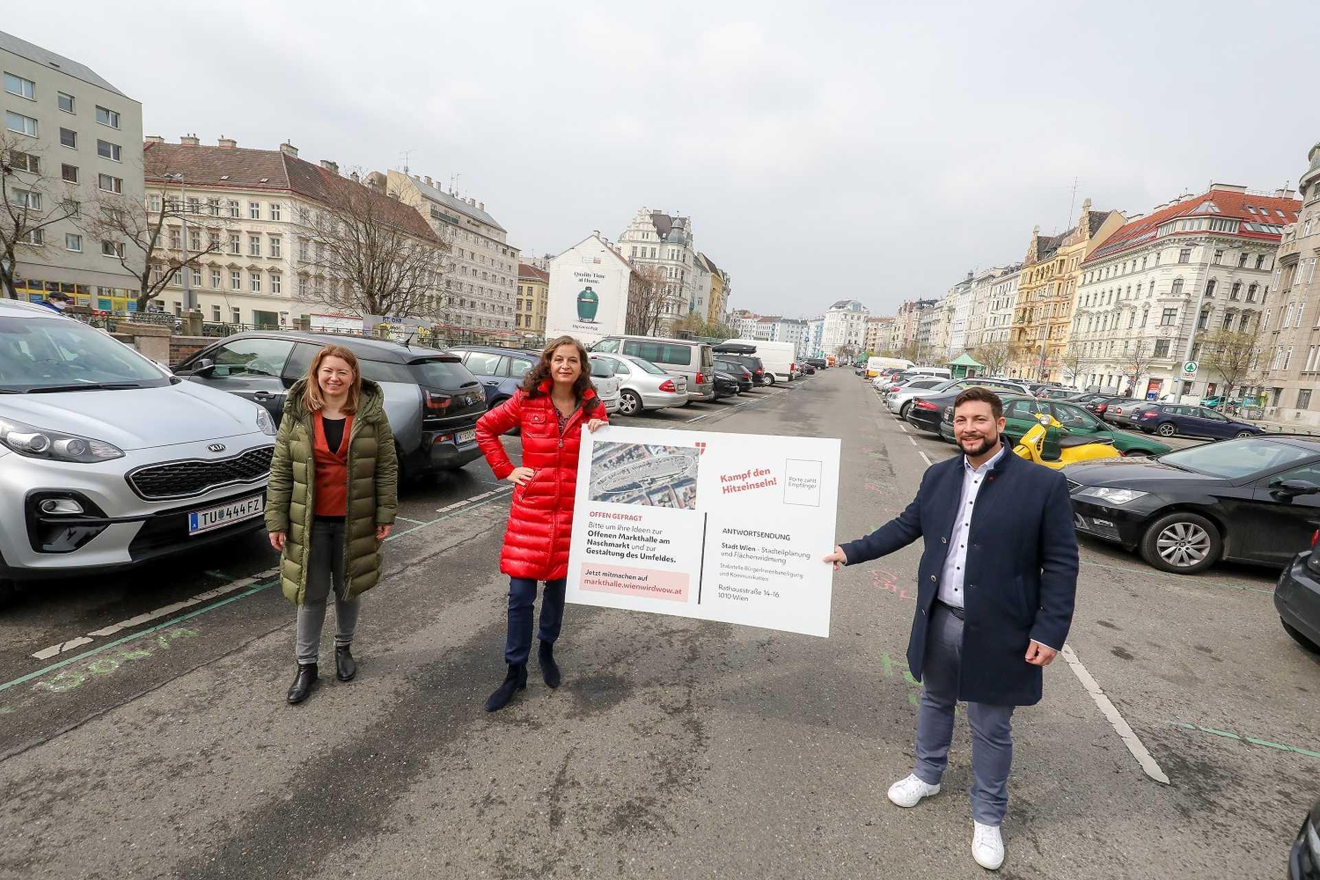 A bécsi Naschmarktnál található óriási parkoló helyén hamarosan zöld oázis lesz