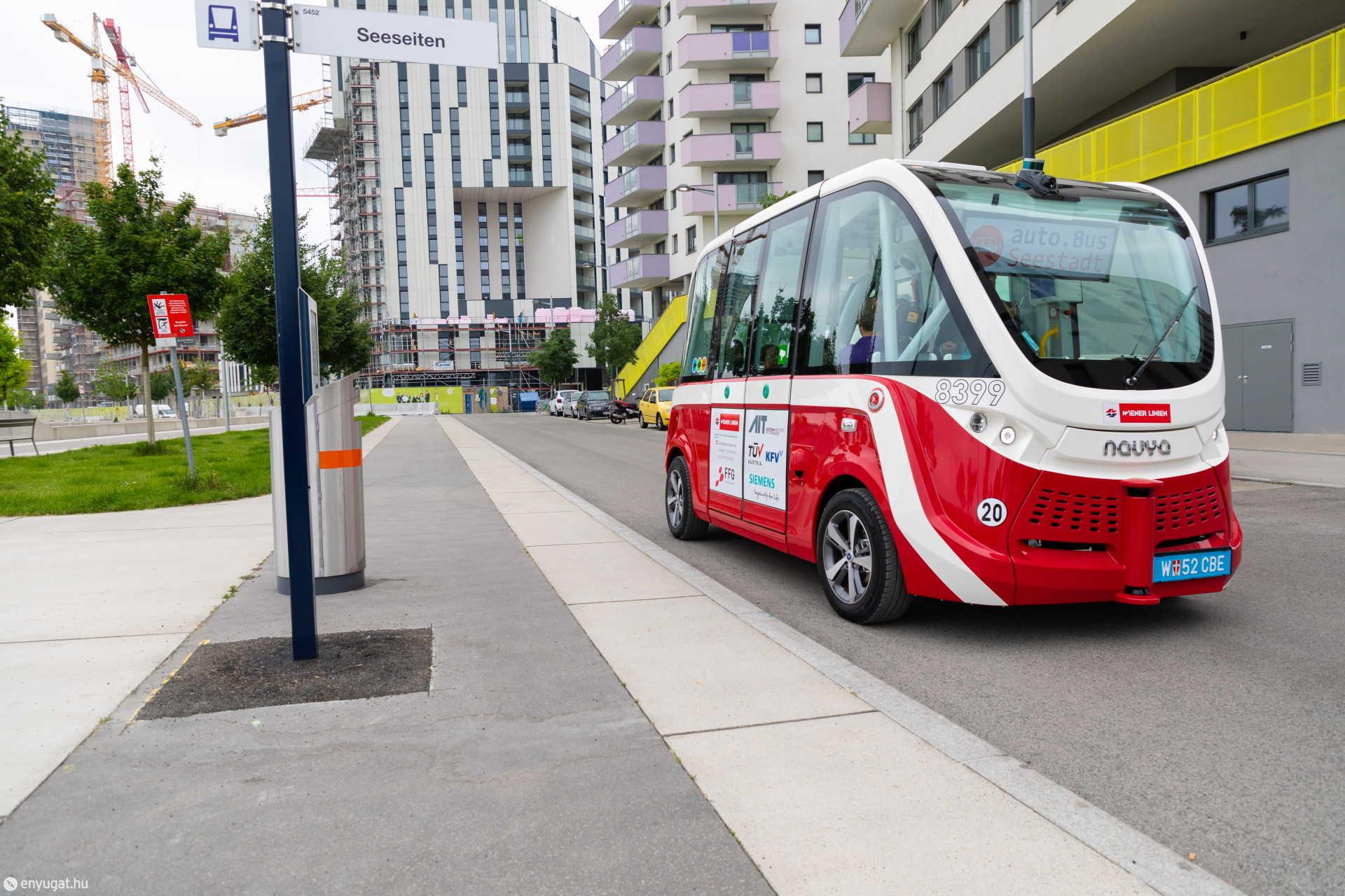 Az önvezető busz Bécsben már valóság.