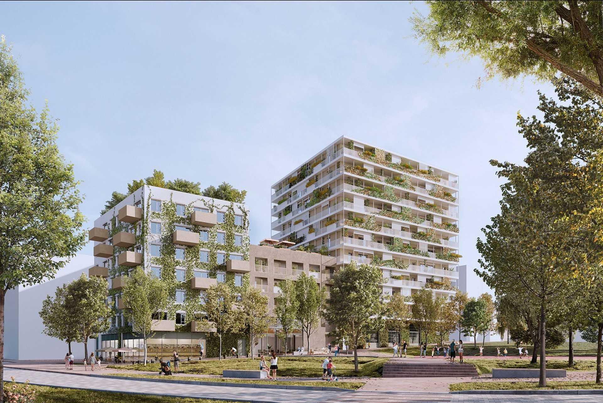 Az épületek természetes szigetelését zöldhomlokzat biztosítja