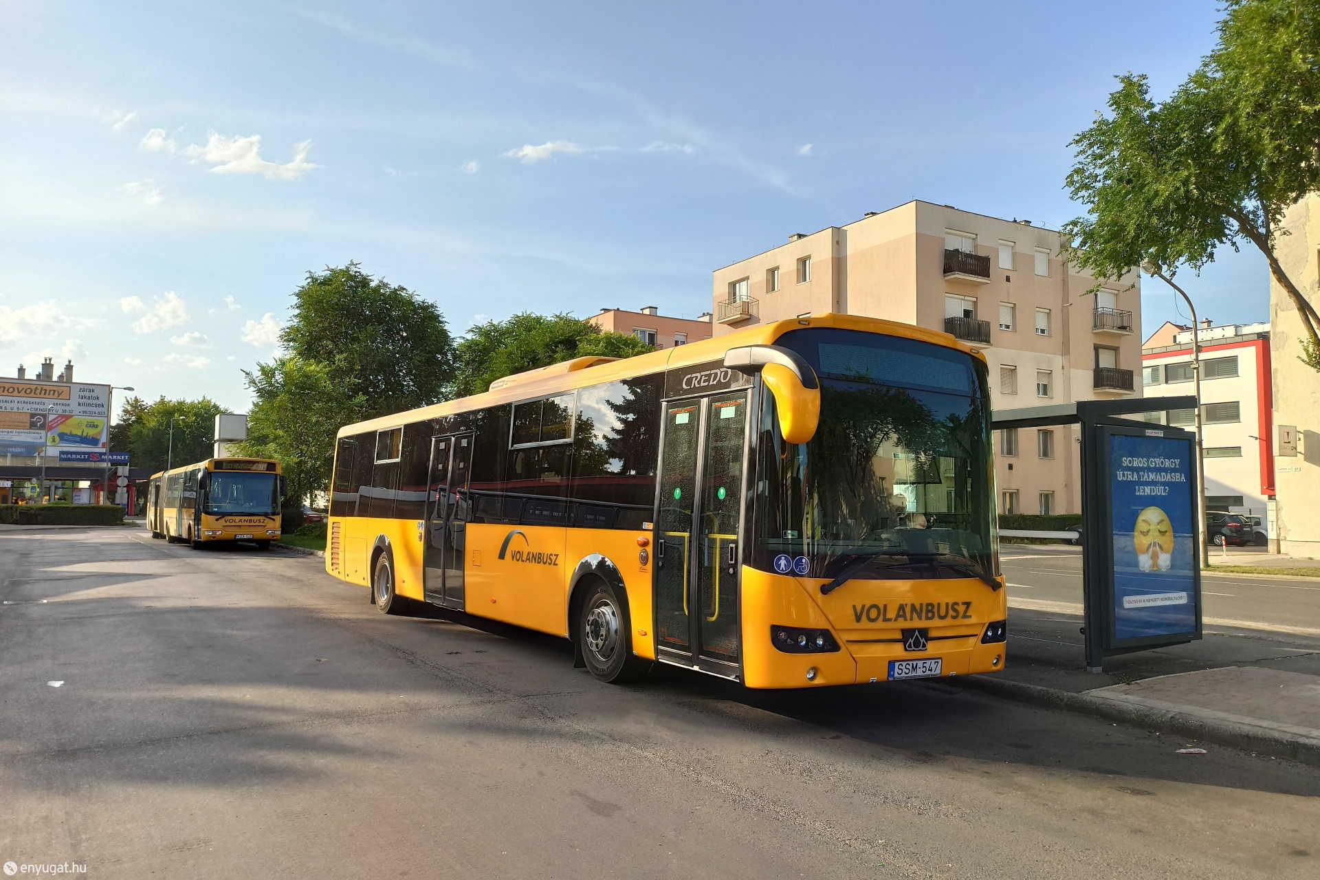 Vadonatúj Credo autóbusz Sopronban