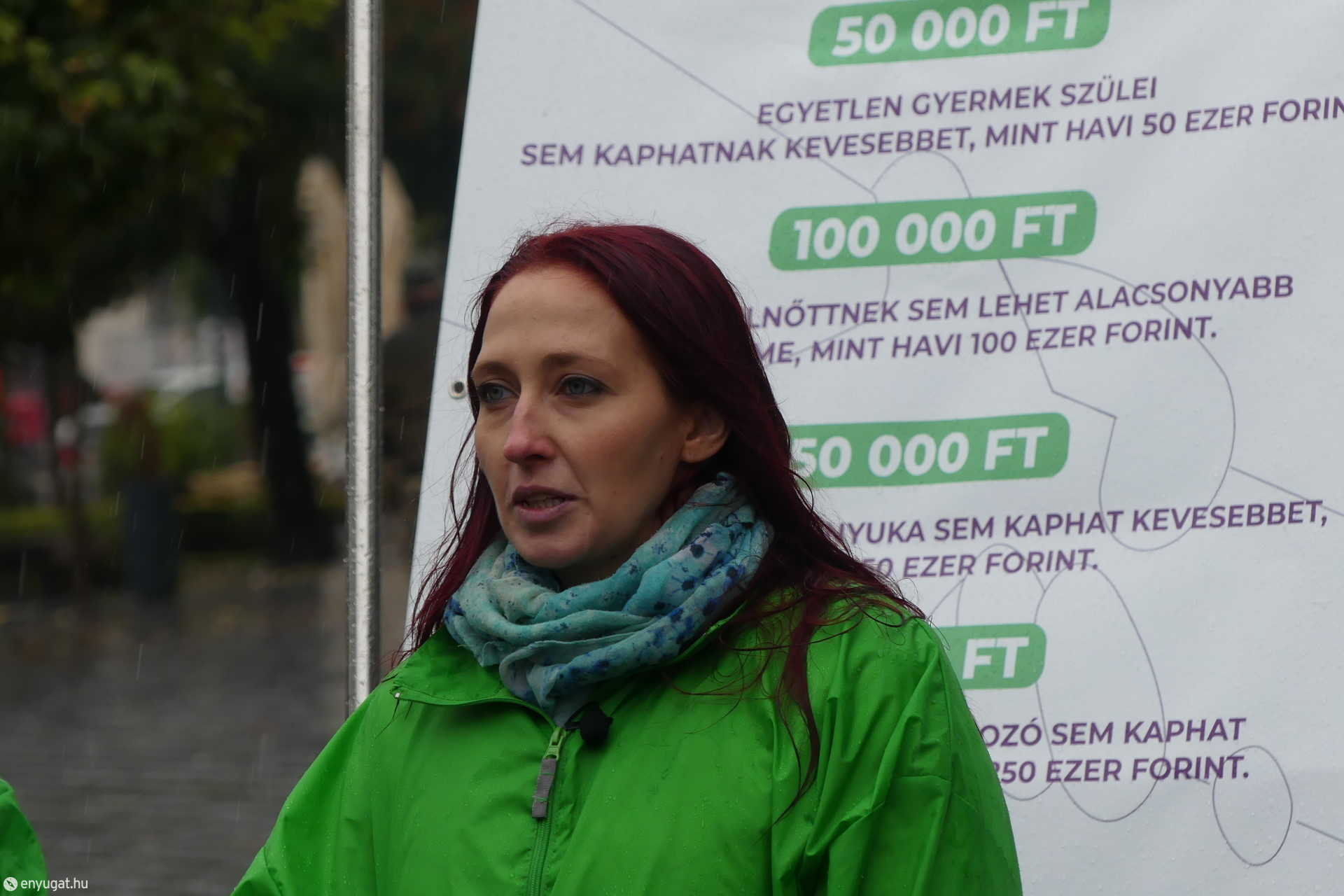 Jakál Adrienn, a Párbeszéd elnökségi tagja és soproni önkormányzati képviselő