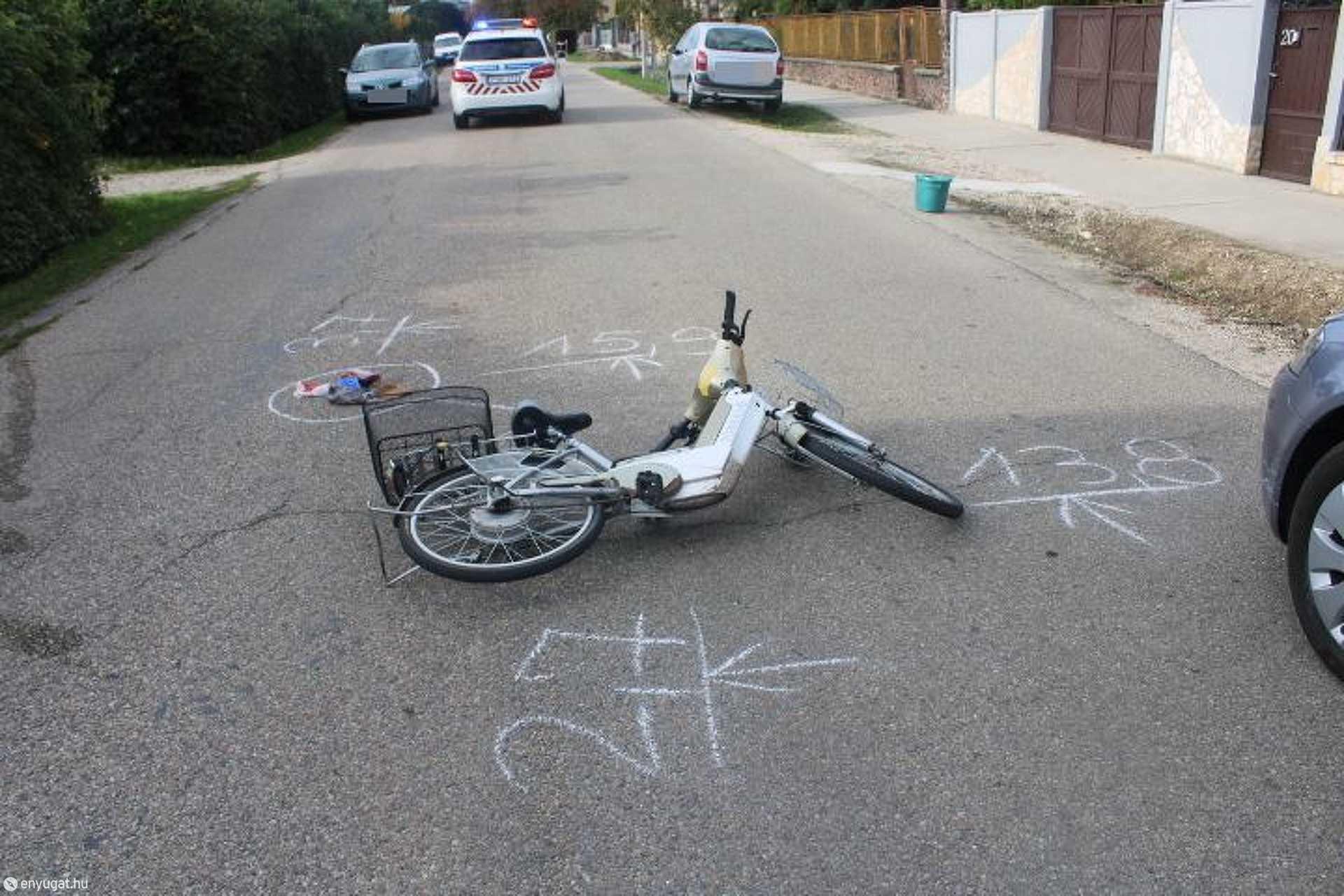 A kerékpárral közlekedő kapuvári nő nem tartott megfelelő oldaltávolságot, ezért történt  a baleset.