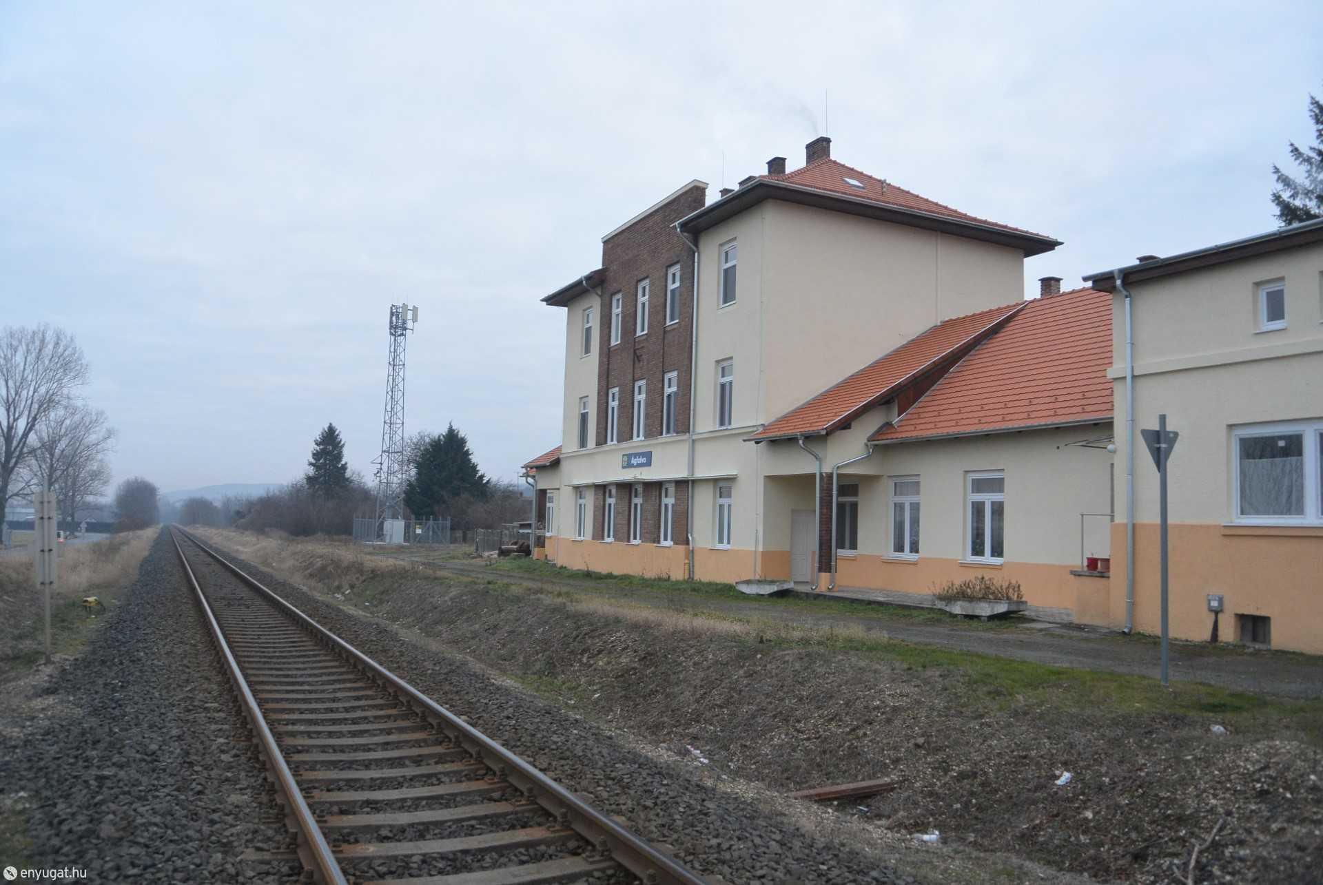 Ágfalva egykori vasútállomása