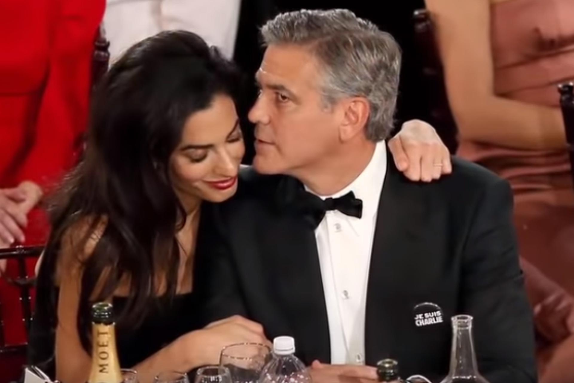 George Clooney feleségével, Amal Alamuddinnal