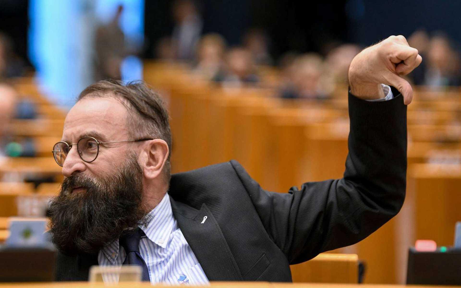 Szájer József EP egyik plenáris ülésén