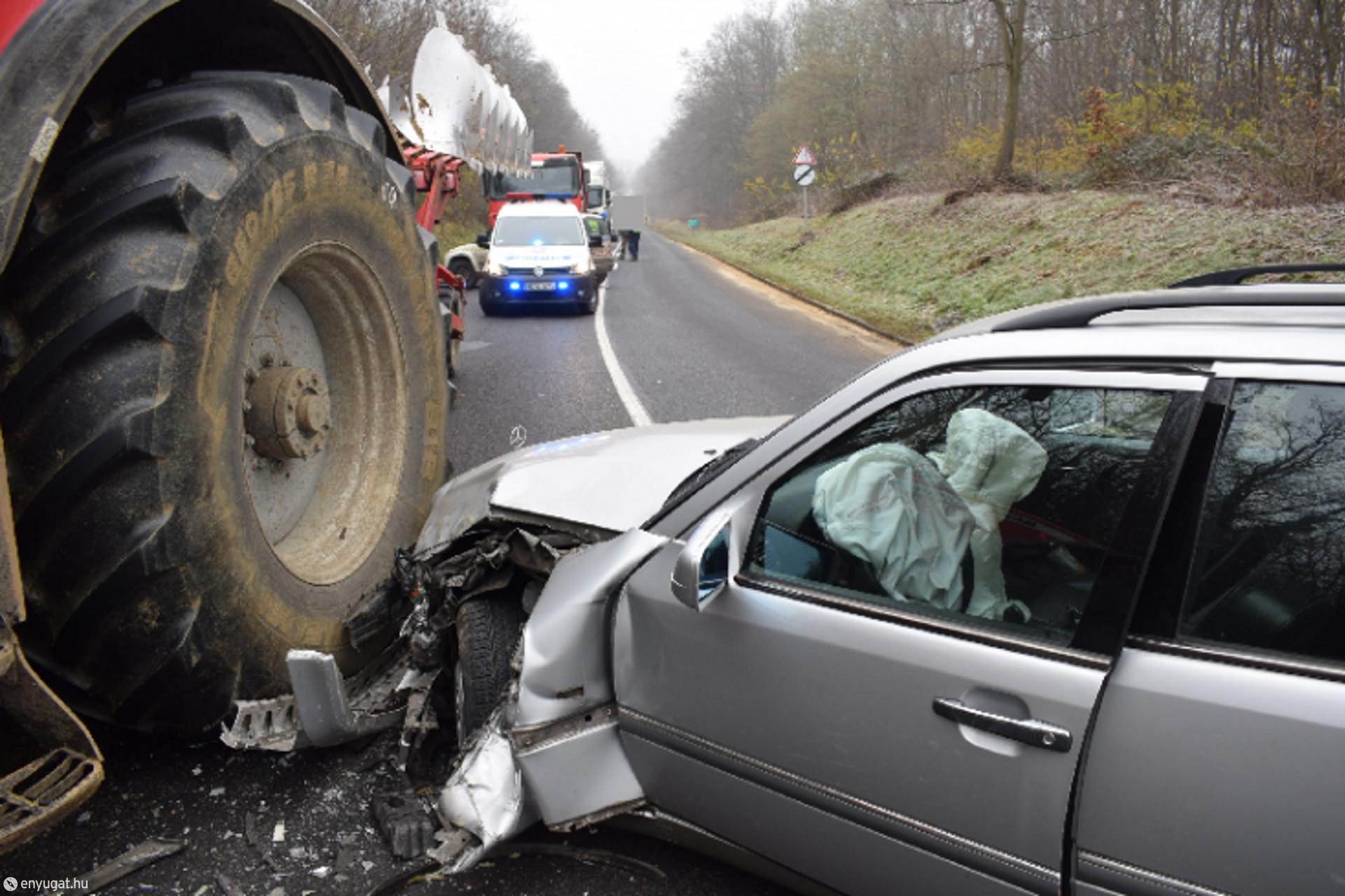 A sofőr biztonsági öve sem volt bekötve...