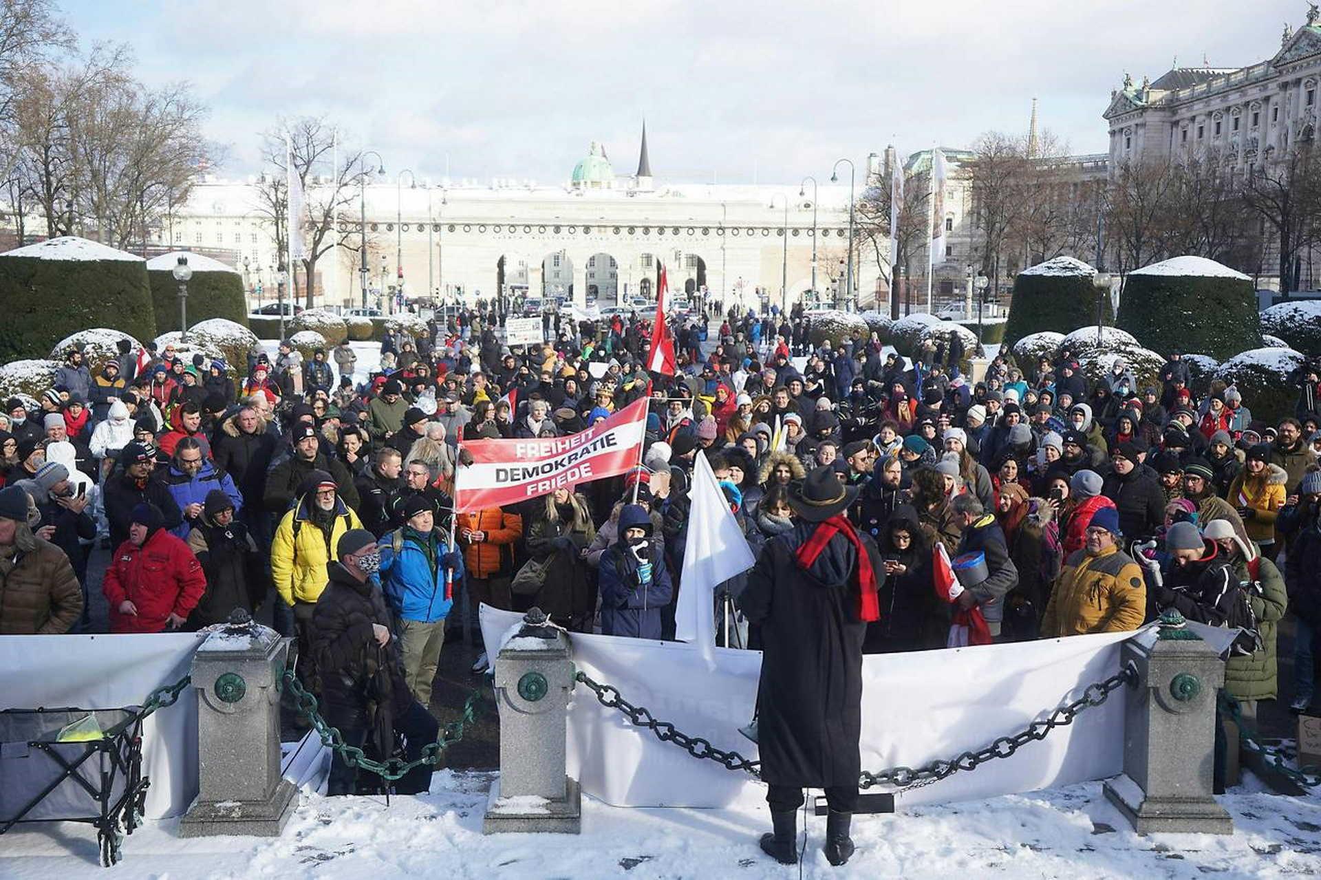 Tüntetés Bécsben