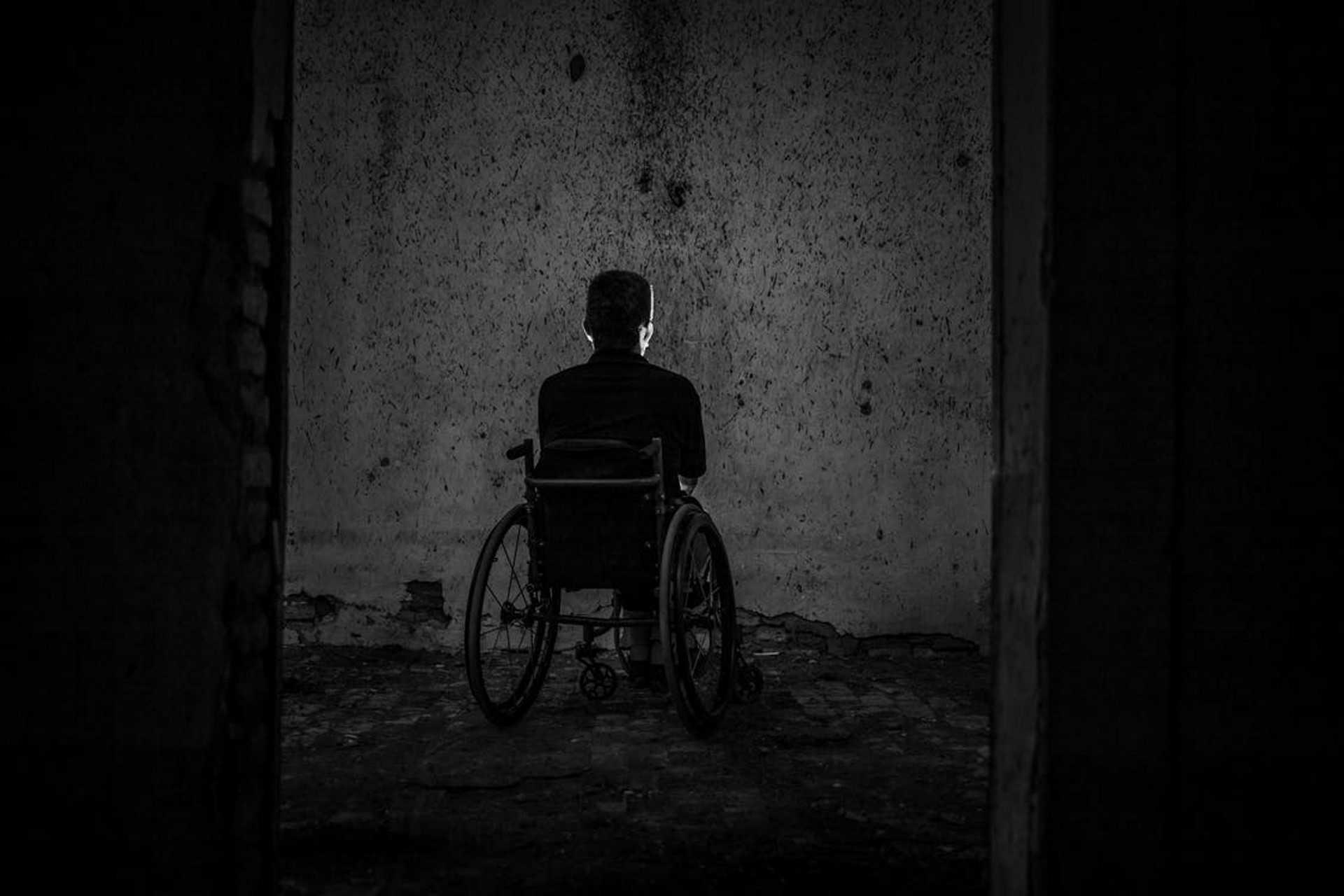 beteg, mentális beteg, kerekes székes