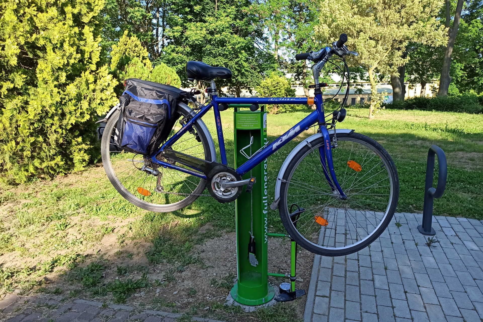 Kerékpárjavító állomás