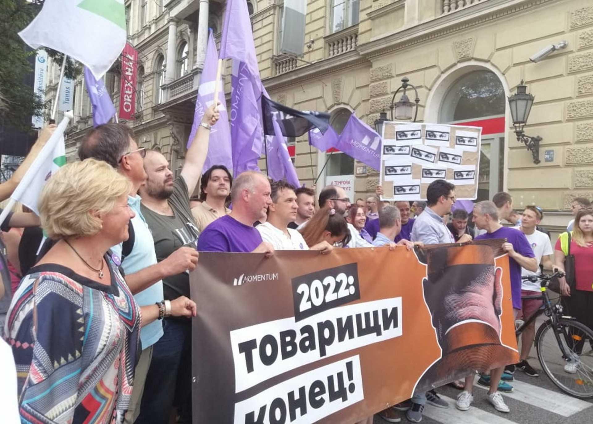tüntetés a fővárosban