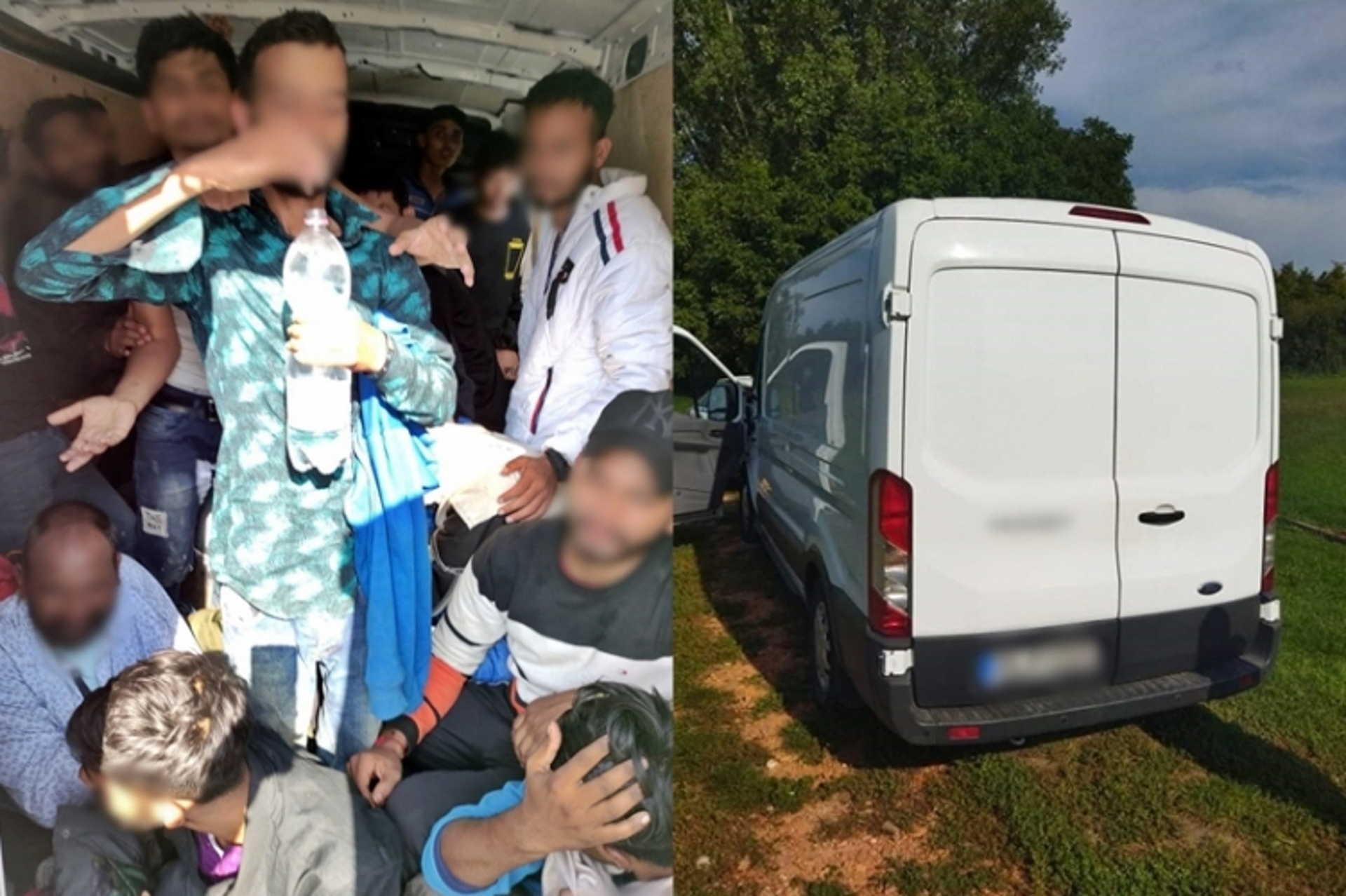 menekültek a furgonban