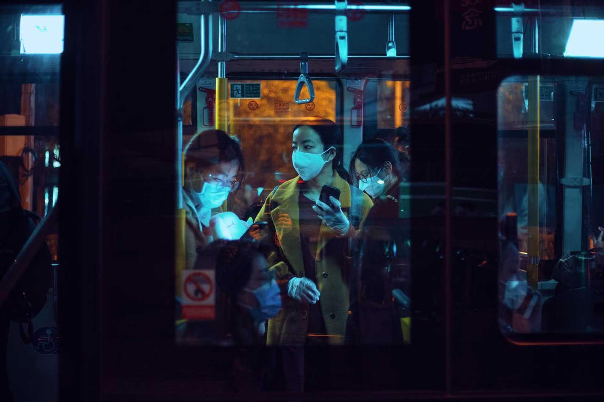 Maszk a buszon