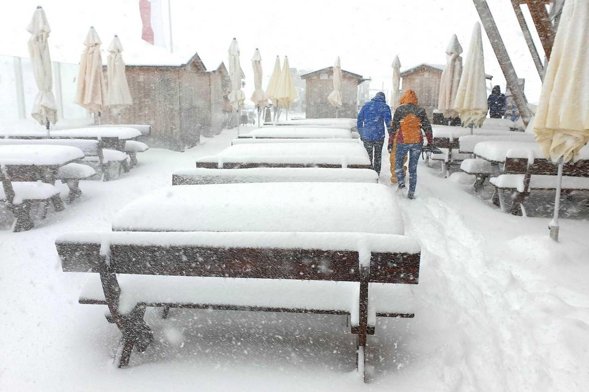Tirolban eseik a hó