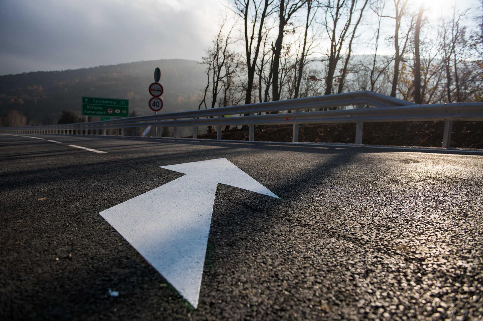 A 87-es út új nyomvonala Kőszeg és Rőtfalva határában