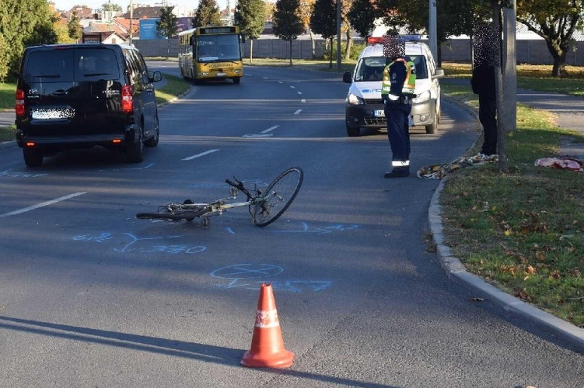Elütöttek egy kerékpárost Sopronban